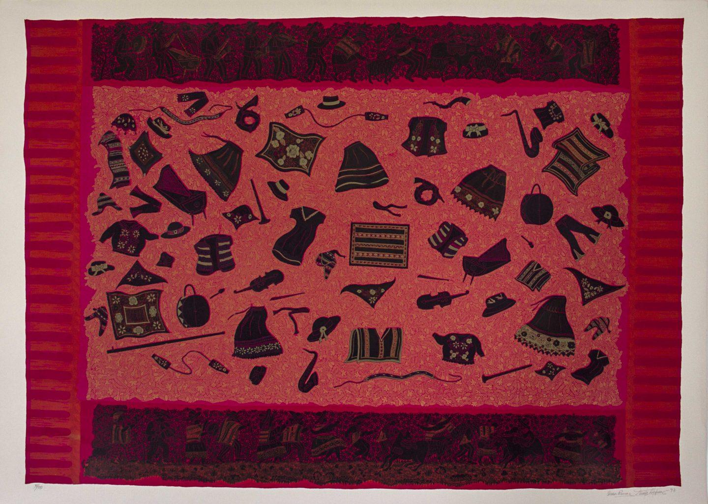 pomdel-nuncir-014-poma-delia-y-nuez-ciro-los-vestidos-100x70cm-