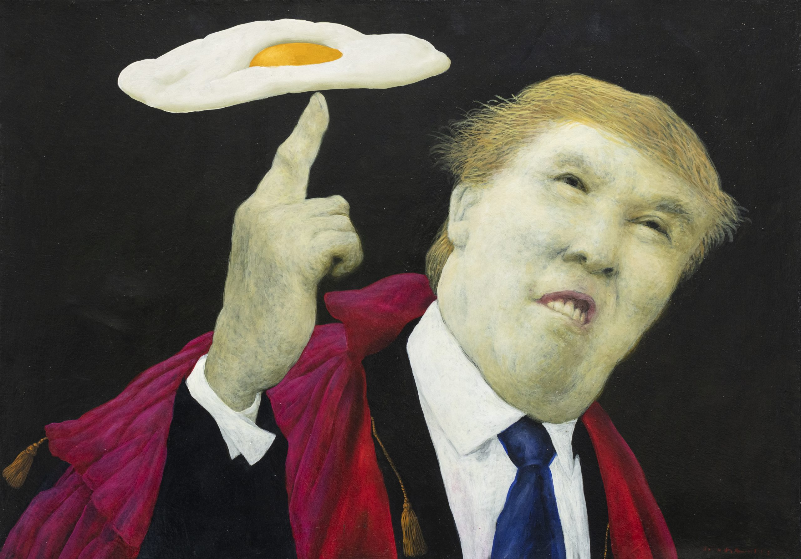 Retrato de Donald Trump_oleo sobre tela_50x71.5cm_2017